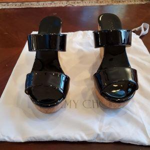 Jimmy Choo Parker Wedge Slide Sandal